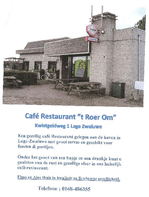 Cafe 't Roer om